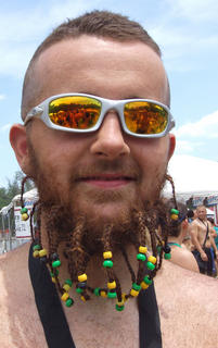 Amos Ballard of Glasgow competed in the Warrior Dash and the best beard competition.
