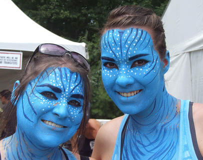 Christine Downs of Lebanon, left, and Laura Clarke of Bowling Green took some inspiration from the movie Avatar.