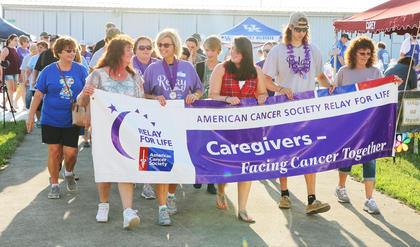 The caregivers take their lap during the Marion County/Washington County Relay for Life.