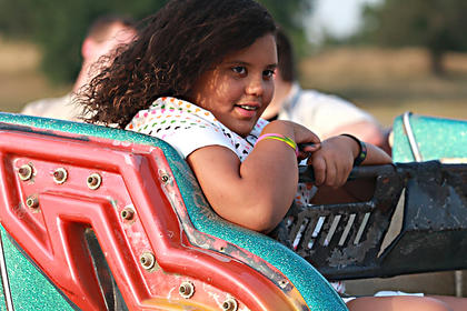 Denisha Yantis goes for a spin on the Sizzler.