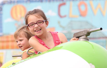 Loretto was rocked by the annual St. Francis Picnic this past weekend. Troves of people showed up for the event, which was held on July 10-12 and featured carnival rides, great food and music. Grace Cox and Laikyn Derringer have a ball as they spin around on one of the rides at the picnic.