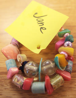 Campers had the opportunity to make their own jewelry using beads.