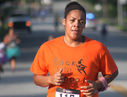 Autria Calhoun is one of the many runners who participated in the Back Tutu School Run.