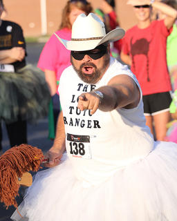 "Harry VanWhy showed up with some serious flair this year dressed up as the ""Lone Tutu Ranger."""