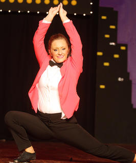"Amy Elizabeth Buckman performs a clogging routine to ""Gangnam Style"" by Psy."