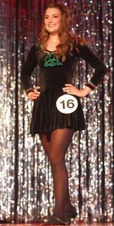 Claire Hagan performs an Irish dance.
