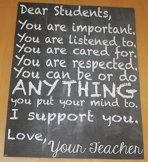 Devin Reynolds, a first-grade teacher at Glasscock Elementary School, let her students know that she cares about them.