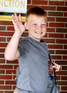 Colton Fancher is on his way to a great year of school.