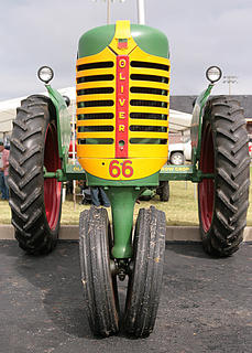 This Oliver 66 is one of the more colorful entries in the antique engine and tractor show.