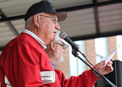 This was Charles Lancaster Sr.'s 46th year as the Pigasus Parade emcee.