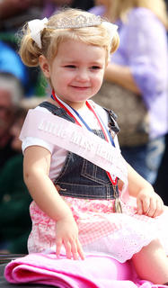 Raini Sidebottom, daughter of Derek and Nickie Sidebottom, won the Little Miss Ham Days competition.