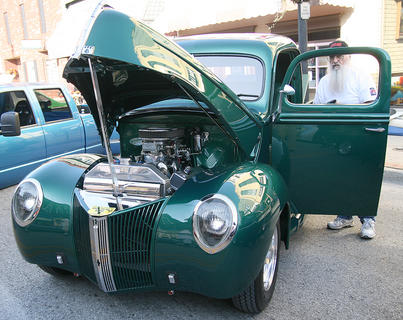 John Blakemore of Lebanon displays his 1940 Ford in the Stuart Powell Ford Car, Truck and Motorcycle Show.