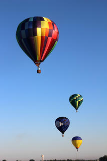 Hot air balloons took to the skies around Lebanon during the Marion County Country Ham Days festival.