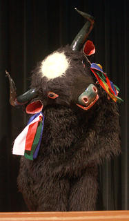 The monks also performed the yak dance on Oct. 10. The yak is native to Tibet, and it symbolizes rugged strength and playfulness.
