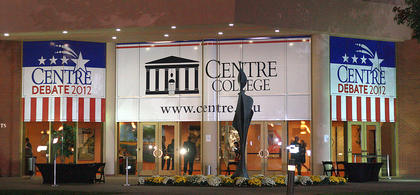 The Vice Presidential Debate was held in the Norton Center for the Arts at Centre College.