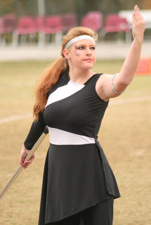 Dallas Dowell stands strong at the end of the semifinal performance.