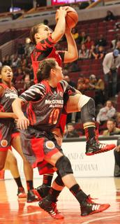 Makayla Epps goes up for a lay in during the McDonald's All American Game.