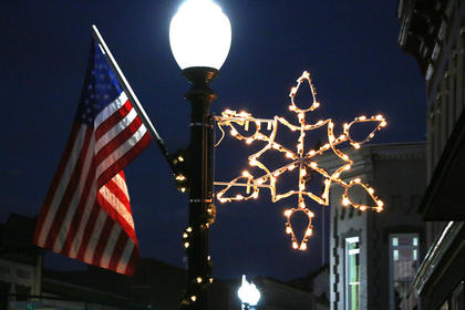 Downtown Lebanon is especially beautiful this time of year with the lighted snowflakes and American flags adorning the street lamps.
