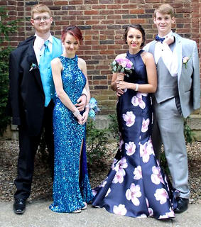 Pictured, from left, Joe Riley, Candice Jeffries, Savannah Chapman and Evan Riley.