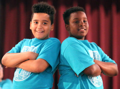 Pictured are fourth graders Cordelle Douglas and LaDerius Thornton.