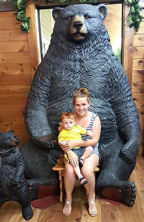 Pictured is Alliston Walston and her son, Carson, while on vacation at Pigeon Forge, Tennessee.