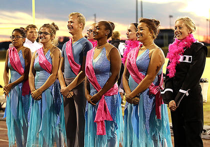The seniors were recognized before Thursday's performance. Pictured are Jennifer Castillo, Kennedy Mayo, Matthew Huff, Jarie Newby, Megan Newton and Sara Jean Hughes.