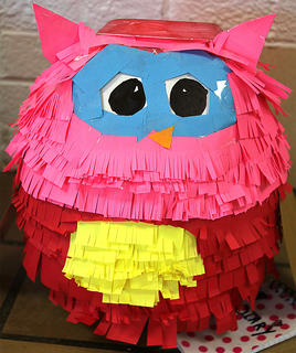 """This pumpkin was inspired by """"Owl Diaries: Eva's Treetop Festival."""""""