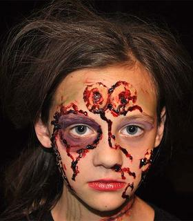 Mackenzie Gordon, 9, dressed as a zombie for Halloween. Her father did her hair and makeup.Her grandmother, Vicky Perkins, submitted this photo.