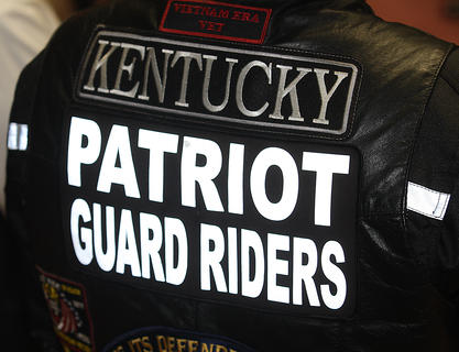 A large group of Patriot Guard Riders attended Rakes' funeral.