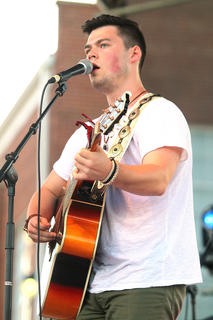 Chase McDaniel of Campbellsville performs.