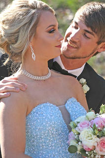 Pictured is Cassidy Logsdon and Cayde Miller. Miller came all the way from Louisiana to attend prom with Logsdon.