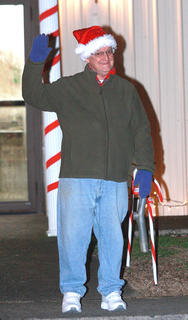 Kenny Adams was all smiles while waiting for the Bradfordsville Christmas parade to begin.