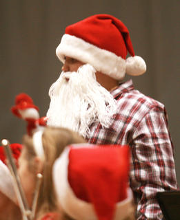 Brice Pirkle embodies the spirit of Christmas during the concert.