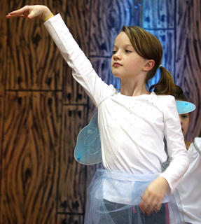 Lani Gribbins dances as one of the sugar plum fairies.