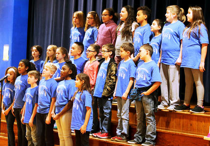 Glasscock Elementary fourth and fifth grade chorus: (Front row, from left): Laykn Grimes, Aliyah Andrade, Keegan Cheser, Freddy Montgomery, Ajaiyah Johnson, Peytan Williams  (Second row, from left): Scarlet King, Pailee Conlee, Keiara Lawson, Ryan Richerson, Jayla Luckett, Gage Morton, Nathan Brown, Raiden May  (Third row, from left): Taylor Coulter, Amelia Spalding, Vanessa Knox, Alena Thompson, Javeon Garrett, Leah Thompson, Railee Gordon, Nora Rigdon