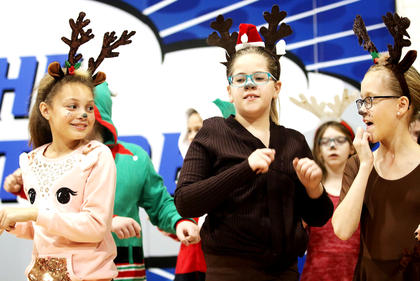 Malea Sutphin, Britney Beaven, & Piper Jones, West Marion Elementary, are the cutest Reindeer around!