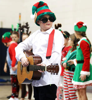 Tristen Hamilton, West Marion Elementary, rocking out.
