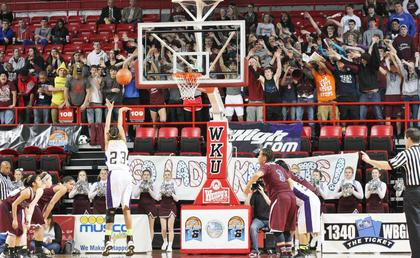 The Marion County crowd shows their support during the first round game of the state tournament last Wednesday afternoon.