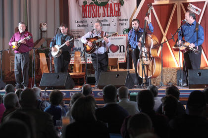 The Hagar's Mountain Boys perform Saturday evening.