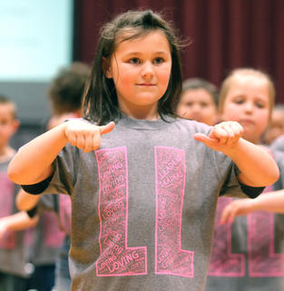 Pictured is second grader Avery Osborne.