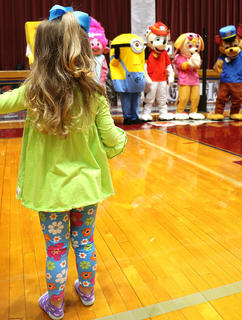 Cartoon characters were a huge hit with many of the children at Saturday's autism event.