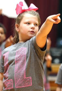 Pictured is second grader Olivia Manning.