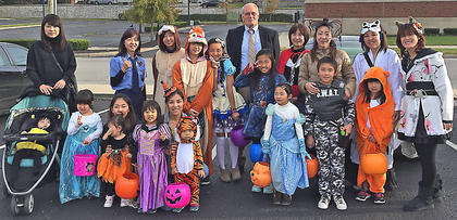 Pictured is Marion County Economic Development Director Tom Lund with some of his Japanese friends.