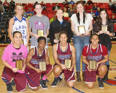 Patrice Tonge, Kyvin Goodin-Rogers, Logan Powell, and Makayla Epps were named to the all-district season team.  Other members of the team were Katie Keltner, Brittany Vaught, Haley Wright, Mercedes Cox, and Heather Watson.