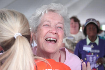 Dolores Whitlock was in a good mood.
