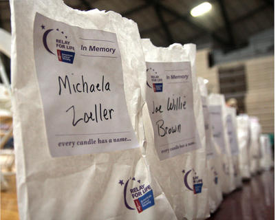 Luminary bags could be purchased to honor survivors and victims of cancer.
