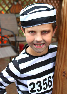 Eric Hagan Mattingly, 7, escaped from prison on Halloween, apparently.