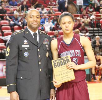 Junior Kyvin Goodin-Rogers was given a National Guard leadership award at the conclusion of the tournament.