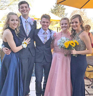 Pictured, from left, are Brooke Davis, Hayden Crain, Matthew Pelfrey, Tori Thompson and Hope Rawlings.