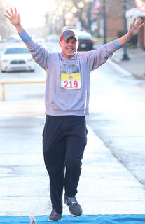 Levi Haydon is definitely excited to finish the All Fired Up About Baseball 5K on Saturday.